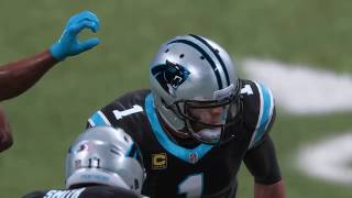 Madden 19 Carolina Panthers vs Tennessee Titans Gameplay