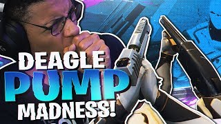 THIS COMBO IS RIDICULOUS! DEAGLE + PUMP MADNESS (Fortnite BR Full Match)