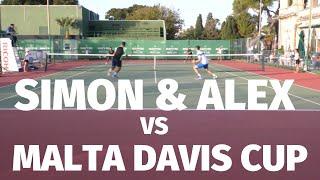 Top Tennis Training vs Malta Davis Cup Team - Doubles Tennis Match