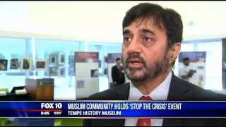 FOX10: Ahmadiyya Muslim community holds 'Stop the crISIS' event in Tempe