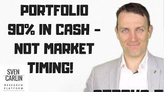 Stock Market Portfolio 90% in Cash Because of Value Investing