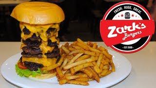 Zark's Tombstone Burger Challenge in Manila, Philippines!!