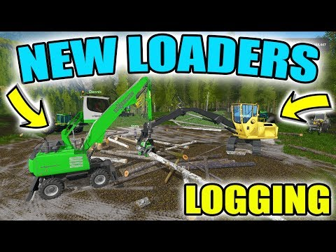 FARMING SIMULATOR 2017 | NEW LOGGING LOADERS + 8 MAN LOGGING CREW | MULTIPLAYER