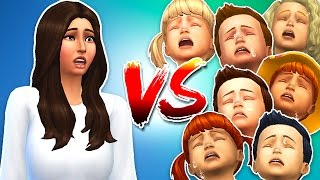 The Sims 4 - SEVEN TODDLER CHALLENGE!! (Sims 4, Episode 4)