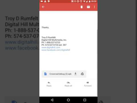 Install  APK file received from email on Android Phone