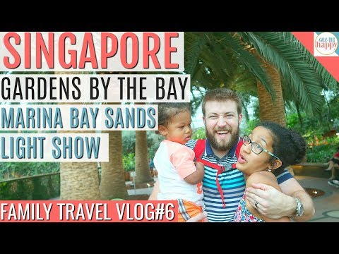 Singapore Travel Vlog #6 - Gardens By they Bay Flower Dome and Marina Bay Sands Light Show