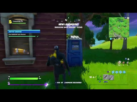 Find Shadow Safe Houses All 5 Locations Fortnite Challenges Brutus Briefing 03 02 2020 Youtube