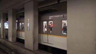 【4K】響くVVVFサウンド! 京都市営地下鉄烏丸線(近鉄3200系・3220系・京都市交10系) 烏丸御池駅・九条駅にて