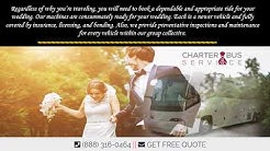 Must Includes for Your Wedding Shuttle as a Charter Bus Rental Near Me