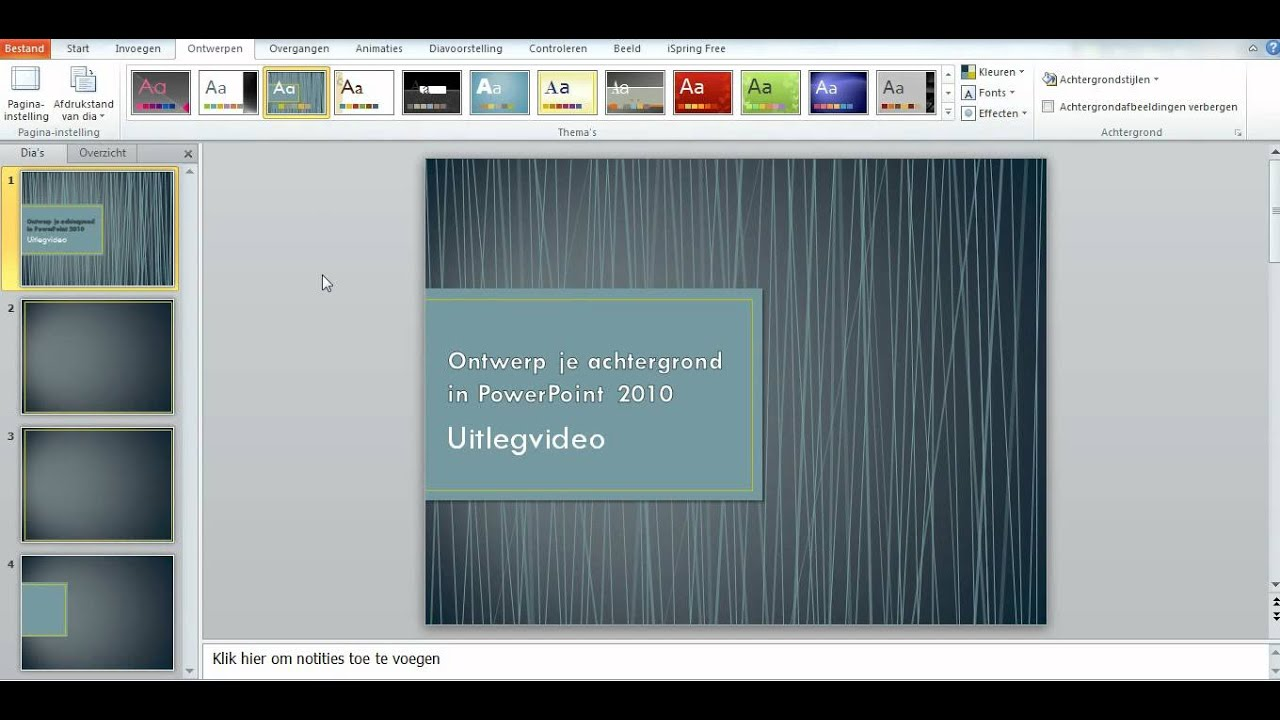 Ontwerp je achtergrond in PowerPoint 2010  YouTube