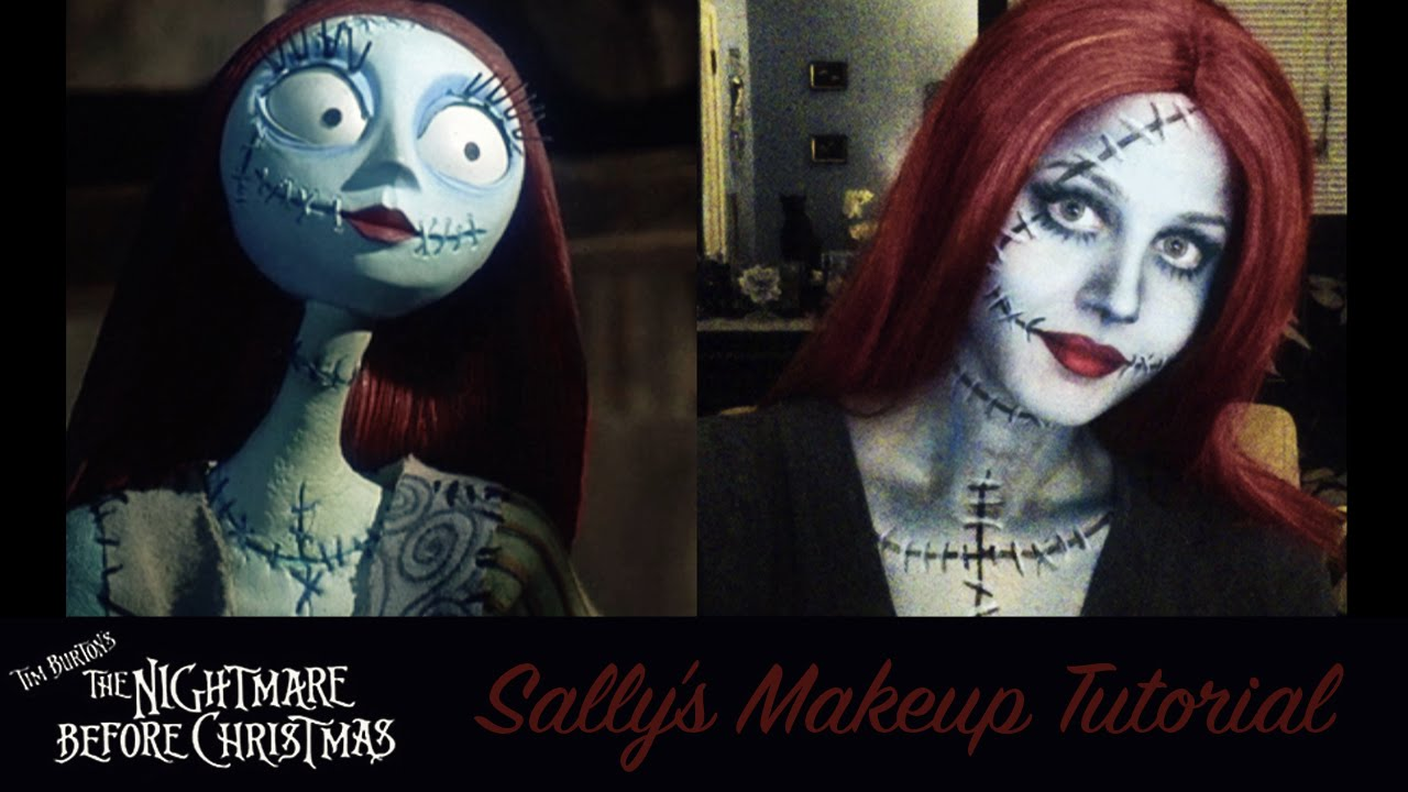 the nightmare before christmas quotsallyquot makeup tutorial