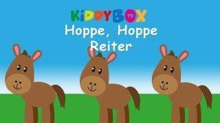 Hoppe, hoppe Reiter - Kinderlieder zum Mitsingen - (KIDDYBOX.TV) Karaoke Lyric Songtext