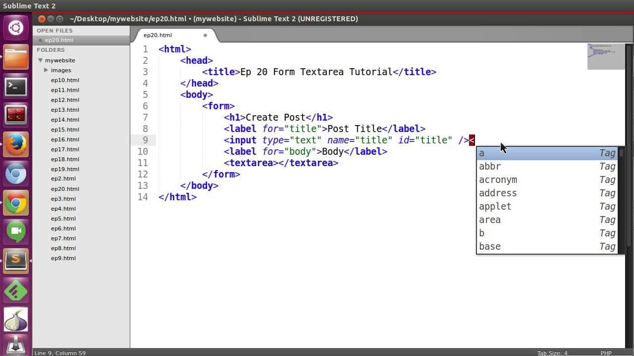 HTML Bassic Tutorial - Ep20 HTML Form Textarea - YouTube