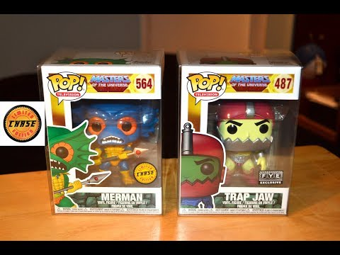 F.Y.E. TRAPJAW & MERMAN CHASE FUNKO POP FIGURE unboxing & review! Masters of the Universe