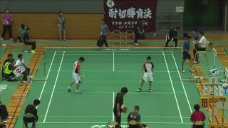 鶴岡/安田(猪苗代町立猪苗代中) vs 樋口/百上(埼玉栄中)男子シングルス決勝 全中バド2016