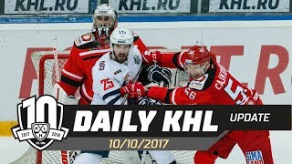 Daily KHL Update - October 12th, 2017 (English)