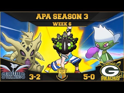 IT'S RAINING ARROWS! • Detroit Steel Wings vs Green Bay Pikachus APA W6 • Pokemon Ultra Sun and Moon