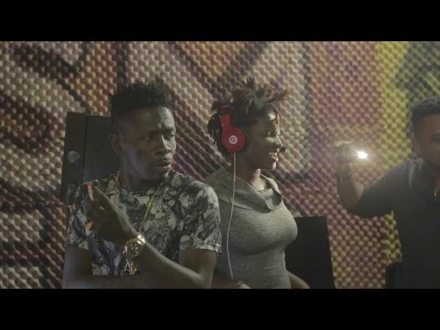 Shatta Wale and Ebony recording session