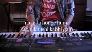 kabhi khushi kabhi gam-Sad version on keyboard