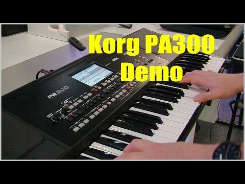 Korg Pa300 Pro Arranger Keyboard Demo - PART 1 PMTVUK