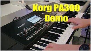 Korg Pa300 Pro Arranger Keyboard Demo - PART 1 PMTVUK
