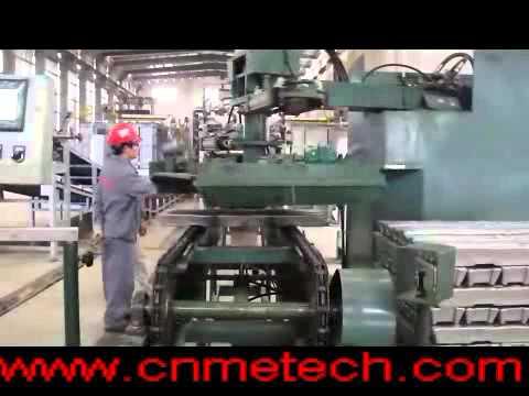 aluminum alloy ingots(ADC12) secondary aluminum production line ingot casting and stacking system