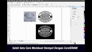 Salah Satu Cara Membuat Stempel Dengan CorelDRAW