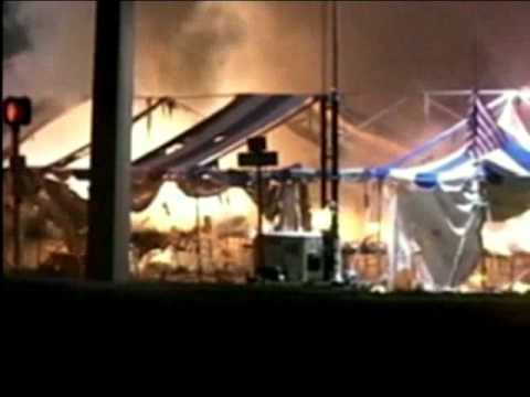Fireworks tent caught fire & Fireworks tent caught fire - YouTube
