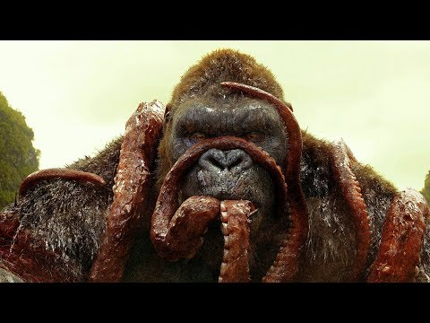 KONG vs GIANT SQUID  - Fight Scene - Kong: Skull Island (2017) Movie Clip HD