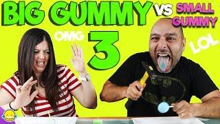 BIG GUMMY vs SMALL GUMMY 3!! Gominola Gigante vs Gominola pequeña 3!!!