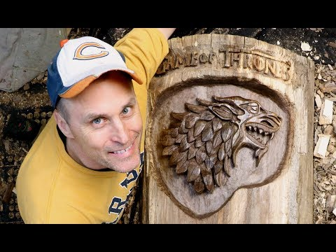 DIREWOLF Game Of Thrones Animated Carving