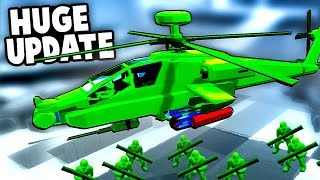 BIGGEST UPDATE YET! NEW APACHE Heli, Bazooka Men and SECRET Mission! (Attack on Toys Gameplay)