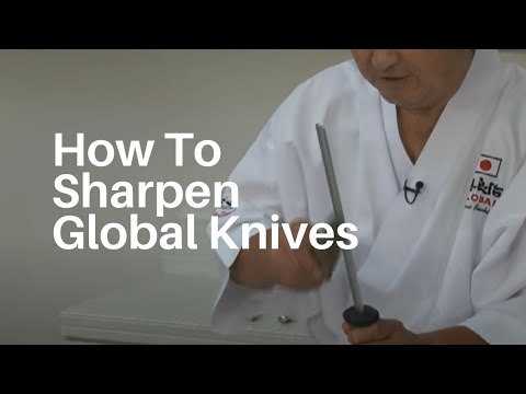 How to sharpen your Global Knives with Mr Global