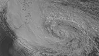 View of Hurricane Sandy from outer space
