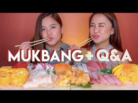 Mukbang + Q&A w my Sister (Youtube sweldo, favorite youtuber, likes & dislikes, paano kami mag-away)