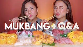 Sashimi Mukbang + Q&A w my Sister (Youtube sweldo, favorite youtuber, paano kami mag-away)