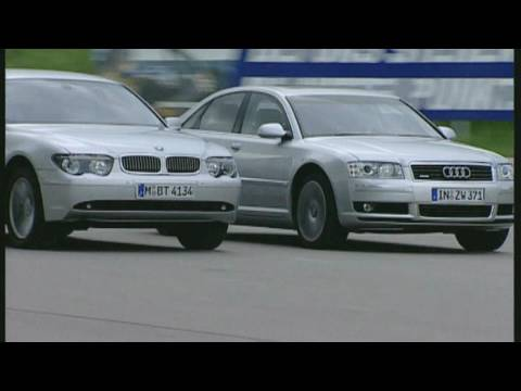 Vergleich Audi A8 4.2 vs. BMW 745i Die bayerische Oberklasse