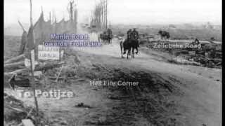 3rd Battle Ypres 1917 WW1 Footage Hell Fire Corner Menin Road Then And Now