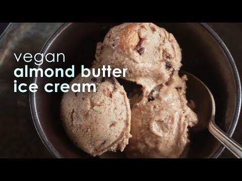 Almond Butter Ice Cream (Vegan / Dairy-Free Ice Cream)