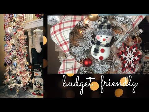 How To Decorate A Christmas Tree Farmhouse Dollar General & Dollar Tree