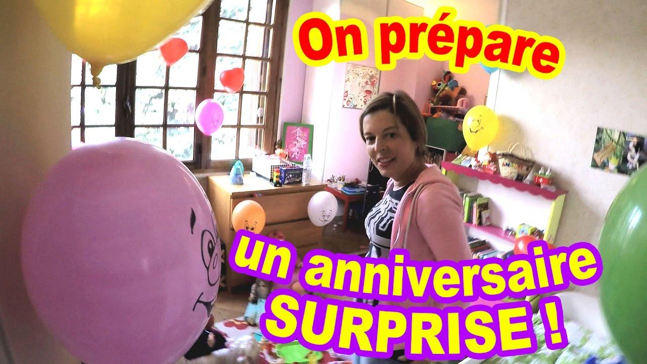 On pr pare un anniversaire surprise chut faut pas le dire youtube - Comment organiser un anniversaire surprise ...
