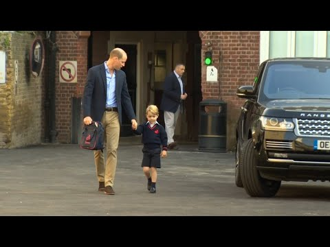 Britain's Prince George starts school