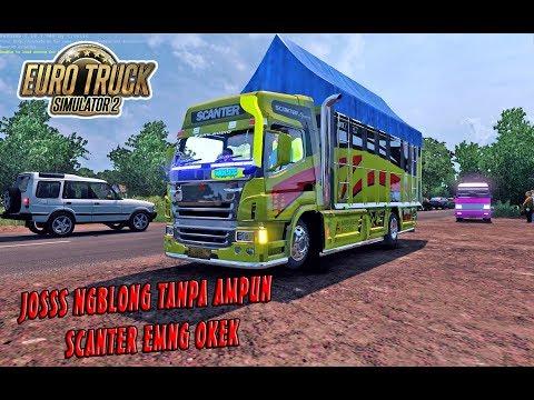 STUT JACK ! Mitsubishi Scanter Antar Cabe, Ngblong Sampe Goyang - ETS2 MOD INDONESIA - 동영상