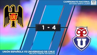 #ConclaveEnLaCancha Fecha 19 | Unión Española 1-4 U. de Chile - Relata Fabián Astudillo