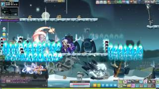 Maplestory Mercedes gameplay with 5th job main skill(메르세데스 5차스킬 사냥)