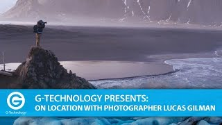 Lucas Gilman in Iceland with G-Technology Thunderbolt 3 Drives