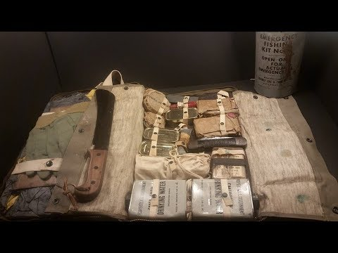 1944 USN M-592 Pilot Survival Kit Navy Ration MRE Taste Test Vintage Gadgets + Fishing Kit in a Can