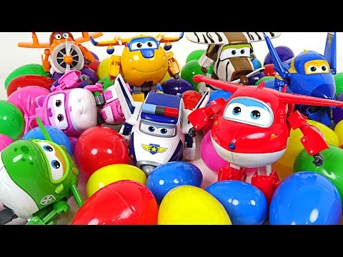 Thumbnail: The eggs fall from the sky. Super Wings Surprise Eggs - DuDuPopTOY