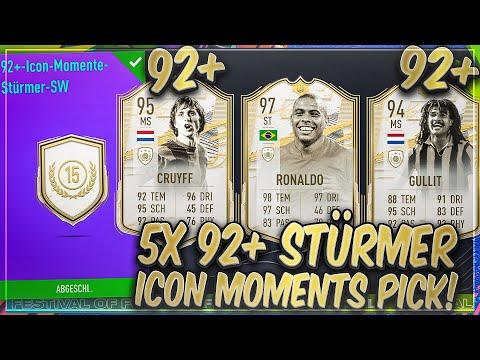OMG! 5x 92+ STÜRMER PRIME ICON MOMENT PLAYER PICK! (15 Tokens) DAS BESTE PACK in FIFA 21?!