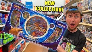 ✨SECRET RARE in the NEW BLASTOISE GX Premium Collection Pokemon Card Box Opening!